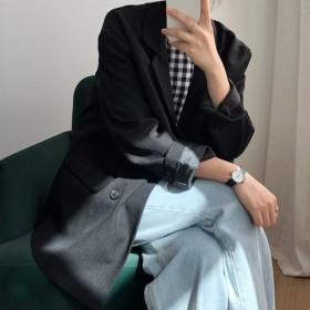 女士小西装外套春秋新款英伦风韩版宽松休闲西服上衣