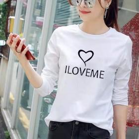 春季韩版宽松长袖T恤打底衫