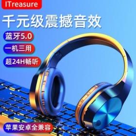 无线双耳蓝牙耳机头戴式游戏电脑手机耳麦超长待机