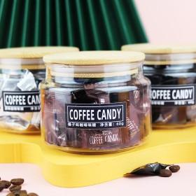 即食咖啡糖果豆醇香可嚼压片糖接待糖果香浓60g竹盖