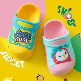 宝宝拖鞋夏1-3岁2男童防滑可爱家居儿童洞洞鞋婴儿