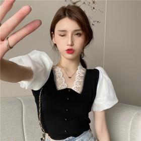 针织衫女2021夏季新款设计感小众短款修身气质薄款