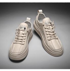 男鞋韩版潮流运动鞋皮面百搭男士皮鞋休闲鞋板鞋