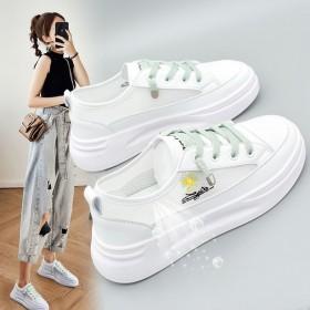 女鞋小雏菊网面透气小白鞋女学生韩版百搭夏季单鞋板鞋
