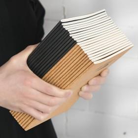 学生日记本记事本牛皮纸笔记本子空白练习本