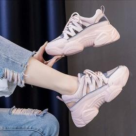 老爹鞋女鞋透气 夏季网红厚底鞋子网面运动鞋凉鞋