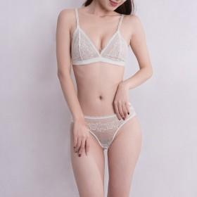 法式蕾丝复古刺绣无钢圈性感超薄内衣文胸套装