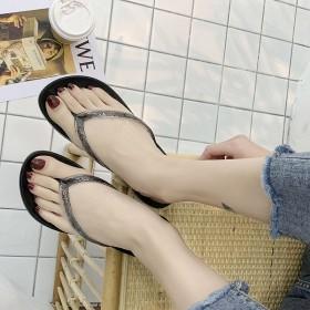 网红韩版人字拖鞋女夏外穿人字拖女防滑