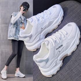 韩版百搭学生ins运动增高街拍透气休闲四季鞋女新款
