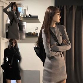 半身裙冬新款韩版修身显瘦打底针织时尚内搭包臀性感