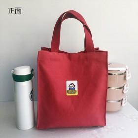 美术袋补习 帆布包文艺小清新韩国饭盒包手提袋 学生