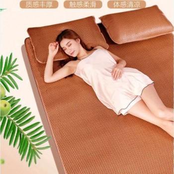 藤席凉席2.0米床夏三件套可折叠1.2m单人学生宿