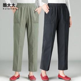 中老年女裤春夏薄款