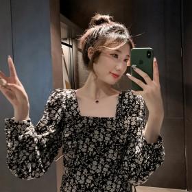 心机裙子设计感超仙女冷淡风赫本小黑裙法式复古中长款