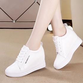 内增高7CM小白鞋女休闲鞋透气厚底女鞋增高运动鞋