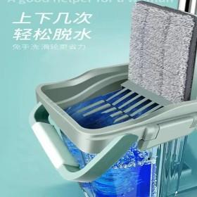 免手洗拖把家用刮刮乐拖把桶一拖净懒人平板加厚刮刮乐