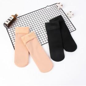 秋冬爆款加绒加厚女士雪地袜 休闲地板袜 保暖中筒袜