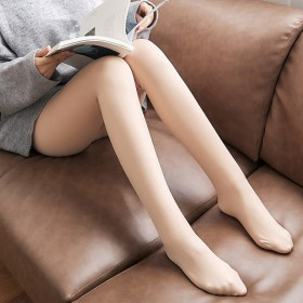 2021秋冬季外穿加绒加厚仿锦纶打底裤一体裤高腰肤
