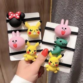 8件套韩国爆款儿童卡通发绳可爱动物笑脸橡皮筋