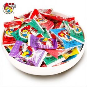 喔喔大公鸡奶糖喜糖散装牛奶味软糖结婚庆糖果小零食品