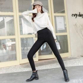 打底裤女外穿春秋款高腰弹力修身显瘦九分薄款百搭黑色