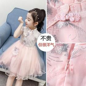童装女童夏装新款汉服连衣裙超仙公主蓬蓬纱裙旗袍