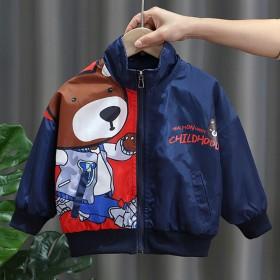 男童外套2021春装新款帅气中小童儿童洋气夹克韩版