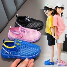 儿童镂空网鞋2021款夏季男童运动鞋女童休闲网鞋