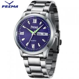 【宝利玛】时尚日历星期手表男士手表