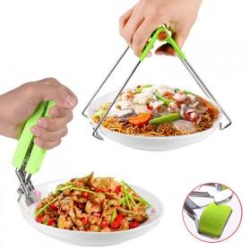 防烫夹取碗器取盘提盘器碗夹蒸菜夹子不锈钢防滑二选一