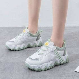 老爹鞋女ins潮2021年春季新款厚底网面运动鞋