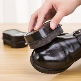 2个装】鞋擦皮鞋保养增亮双面海绵擦鞋刷鞋蜡鞋油