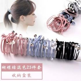 12件套】橡皮筋发绳头饰扎头绳韩版发圈发箍优质