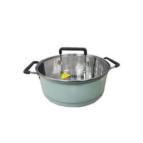 汤锅 304不锈钢内胆电磁灶专用煲汤家用蒸煮不粘锅
