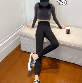 鲨鱼皮打底裤秋冬加绒女外穿薄款紧身收腹弹力厂家瑜伽