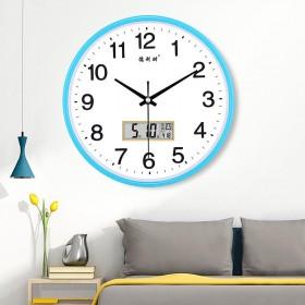 静音挂钟客厅钟表卧室挂表时尚大气现代简约...