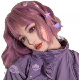 奶芋紫灰色染发剂2021流行色新款发色女粉棕色