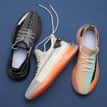 夏季飞织网面跑鞋情侣鞋软底运动鞋
