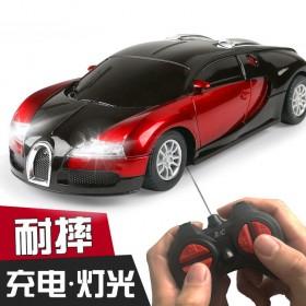 儿童玩具车男孩遥控车玩具赛车布加迪模型耐摔可充电动