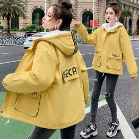 加绒加厚棉衣外套少女秋冬新款初中学生韩版短款棉服