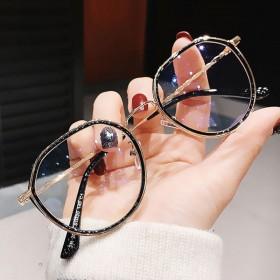 韩版多边形近视眼镜女有度数