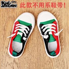 童鞋夏季透气一脚蹬帆布鞋防滑防臭幼儿园新款男女童鞋