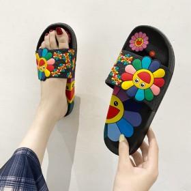 新款凉拖鞋女夏网红ins韩版外穿防滑平底居家卡通太