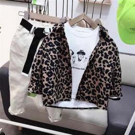 3岁男童春装套装2021新款5豹纹6小童2春款三件