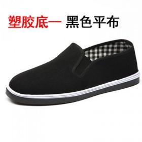轮胎底布鞋男老北京黑布鞋
