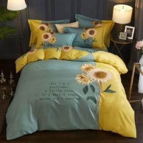 100%全棉纯棉四件套床单被套床上用品中国风