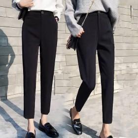 休闲新款哈伦裤春夏小西装裤女学生小脚裤宽松显瘦高腰