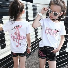 女童短袖T恤新款夏装韩版儿童白色上衣洋气小女孩半袖