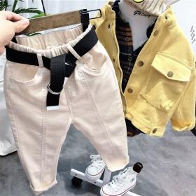 儿童裤子2021新款男童春装时髦洋气休闲长裤女童春