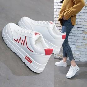 心电图小白鞋女2021春夏新款韩版学生休闲板鞋女夏